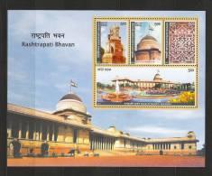 INDIA, 2011, 80th Year Of  Rashtrapati Bhavan, Miniature Sheet, MNH, (**) - India