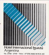 ARGENTINA IGUAZU HOTEL INTERNACIONAL VINTAGE LUGGAGE LABEL