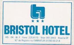 BRASIL BRASILIA BRISTOL HOTEL VINTAGE LUGGAGE LABEL
