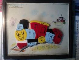 Vieux Puzzle Aimant  Pour Enfant  TRAIN, 18 Pièces. A Child Guidance Toy. N° 921 Choo Choo Train - Puzzles