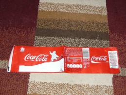 Coca Cola 2L 2 Liter Label From Hungary Snowboarding Polar Bear - Coca-Cola