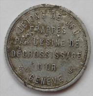 Suisse Switzerland Genève Usine De Dégrossissage D'or 20 Rappen - Monétaires / De Nécessité