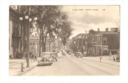 CPA : Auburn : Court Street : Immeubles - Voitures - Animation -  Buildings - Cars - People - Auburn