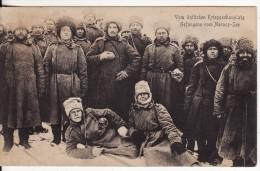 Vom Östlichen Kriegsschauplatz Gefangene- NAROCZ-SEE (Belarus-Bielo-Russie) Russia-Russland-CO SAQUE-KOSAKEN-Militaire- - Belarus