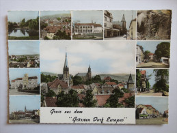"""(4/5/9) AK """"Dudweiler"""" Gruss Aus Dem Größten Dorf Europas Um 1957 - Germany"""