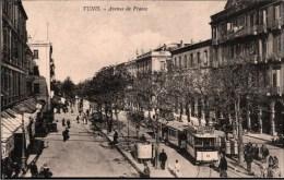 ! Tunis, Old Postcard,  Straßenbahn, Tramway - Tramways