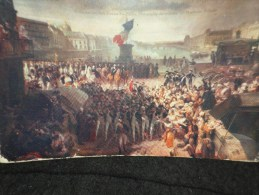 Carte Ancienne  ( 1900 - 1910 ). Tableau De  Leon Cagnet  Départ Pour La Bataille De Valmy. - Peintures & Tableaux