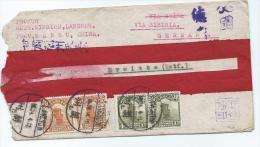 Briefomslag  Van Lanchow  Naar Duitsland  Via Siberia - China