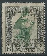 1921 LIBIA USATO PITTORICA 5 CENT - ED192-3 - Libya