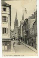 QUIMPER. - La Rue Kéréon. - PHARMACIE NORMALE Et LIBRAIRIE - Quimper