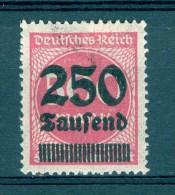 * 1923   N° 271 SURCHARGE  DEUTFCHES REICH NEUF ** GOMME - Errores De Grabado