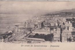 UN SALUTO DA SAMPIERDARENA  GENOVA -PANORAMA-VG 1910- ORIGINALE D´EPOCA 100% - Genova (Genoa)
