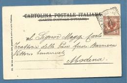 1903  AMBULANTE   BRINDISI - ANCONA  * (tondoriquadrato) Su  2 C. - CARTOLINA CON GATTO E DONNINA - 1900-44 Vittorio Emanuele III