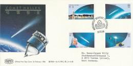 HONG Kong - 1986 , Comet Halley  -   Big Letter , Dispatch:= 4,20 EURO - Astrologie