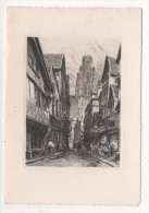 ROUEN - Carte à Volet - Rue Damiette - Illustrateur - Rouen