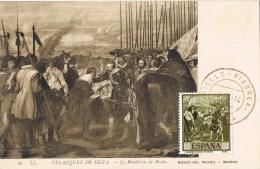 8160. Tarjeta Maxima  RIELLS (Gerona). Cuadro Velazquez Rendicion De Breda - Tarjetas Máxima