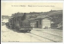 Environs De MEULAN , NEZEL , Gare Du Tramway De VERSAILLES à MEULAN , Reproduction D'une CPA - France