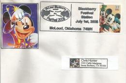 ETATS-UNIS.  Disney : Blackberry Festival . McLoud. Oklahoma. Belle Lettre Adressée En Californie - Disney