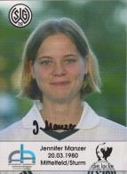 Original Women Football Autograph SG Wattenscheid 09 Team 2004 /05 Jennifer Manzer - Autographes