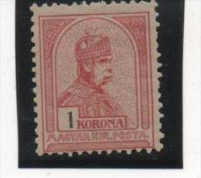 HONGRIE EMPIRE N° 52 1 KORONA NEUF* TRACE COTE 35 EUROS - Neufs