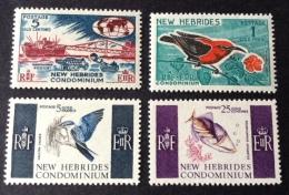 New Hebrides 1966 Mi 236/239, Yv 219/222 Mh* - Nuevos