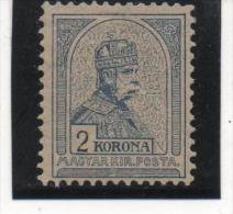 HONGRIE EMPIRE N° 53 2 KORONA NEUF* TRACE COTE 350 EUROS - Neufs
