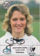 Original Women Football Autograph SG Wattenscheid 09 Team 2004 /05 Jeannette Götte - Autographes