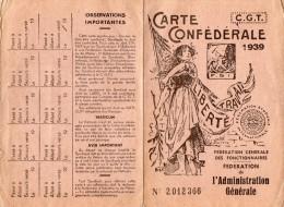 VP1031 - Carte Confédérale De La C.G.T - Syndicat De L'éducation Nationale / PANTIN - Sin Clasificación