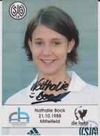 Original Women Football Autograph SG Wattenscheid 09 Team 2004 /05 NATHALIE BOCK - Autographes