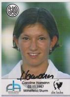 Original Women Football Autograph SG Wattenscheid 09 Team 2004 /05 CAROLINE HAMANN - Autographes