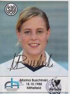 Original Women Football Autograph SG Wattenscheid 09 Team 2004 /05 MARINA BUSCHINSKI - Autographes