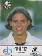 Original Women Football Autograph SG Wattenscheid 09 Team 2004 /05 ANNIKE KRAHN - Autographes
