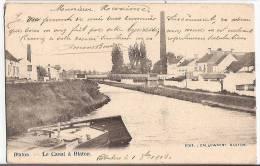 CPA Blaton Le Canal à Blaton  Péniche Bernissart Hainaut Belgique - Bernissart