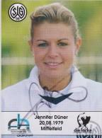 Original Women Football Autograph SG Wattenscheid 09 Team 2004 /05 Jennifer Düner - Autographes