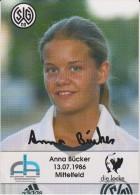 Original Women Football Autograph SG Wattenscheid 09 Team 2004 /05 Anna Bücker - Autographes