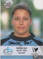 Original Women Football Autograph SG Wattenscheid 09 Team 2004 /05 DENISE BEIL - Autographes