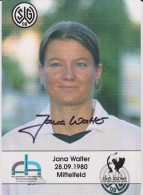 Original Women Football Autograph SG Wattenscheid 09 Team 2004 /05 JANA WALTER - Autographes