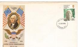 GRAN BRETAGNA, GREAT  BRITAIN  - FDC Cover 1976 Bicentennial Of American Independence Benjamin Franklin - FDC