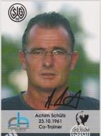 Original Women Football Autograph SG Wattenscheid 09 Team 2004 /05 Achim Schütz Co-trainer - Autographes