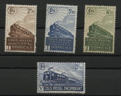 FRANCE, LOCOMOTIVES, 4 RAILWAYSTAMPS 1941 NH - Neufs