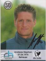 Original Women Football Autograph SG Wattenscheid 09 Team 2004 /05 ANDREAS STEPHAN Betreuer - Autographes