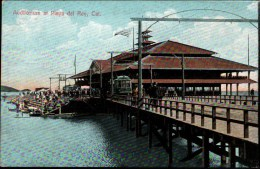!  Old  Postcard Auditorium At Playa Del Rey , California, Trolley, Straßenbahn, Tramway, USA - Strassenbahnen