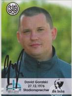 Original Women Football Autograph SG Wattenscheid 09 Team 2004 /05 DAVID GORALSKI Stadionsprecher - Autographes