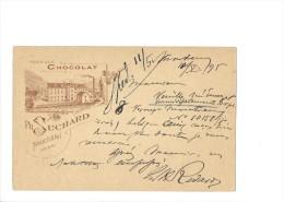 9332 - Carte Postale Suchard  Fabrique N° 6 Bludenz Montreux 10.05.1895 - Entiers Postaux