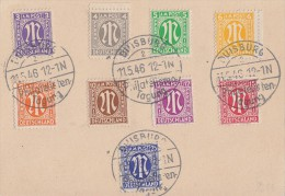 AM-Post Karte Minr.1-9 SST Duisburg 11.5.46 Philatelisten-Tagung - Bizone