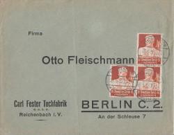 DR Brief Mef Minr.3x 560 Reichenbach 28.6.35 - Briefe U. Dokumente