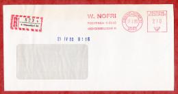 Einschreiben Reco, Absenderfreistempel, W Nofri, 210 Pfg, Duesseldorf 1980 (52979) - Covers & Documents