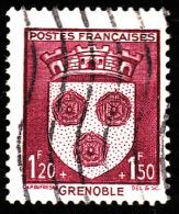 France  1942  -  Y&T 557  - Armoiries Grenoble  -  Oblitéré - Cote 4.20e - France