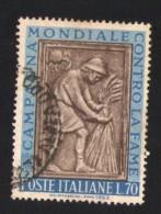 Italie 1963 Oblitéré Rond Used Stamp Bas-relief Récolte Campagne Contre La Faim - 6. 1946-.. República
