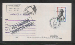 TAAF FRENCH SOUTHERN & ANTARCTIC LANDS 1994 TERRE ADELIE ANTARCTIC FLIGHT Airplane Planes - Polar Flights